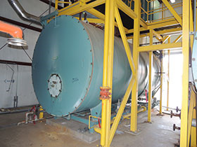 industrial coal fired boiler for hospital step grate