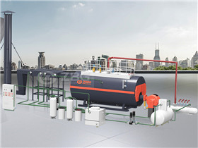 Enviromental CE Approved Horizontal Packaged Firetube Hot Water Boiler